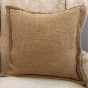 Set of 2 Pottery Barn Jute Braided Pillow Covers
